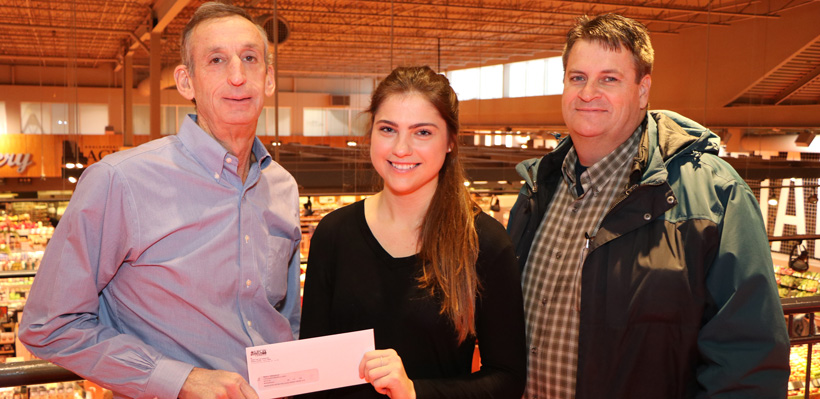 BDM Scholarship winner Maida Krdzalic (center) pictured with Local 1006A President Wayne Hanley, and Union Representative Gary Brown.