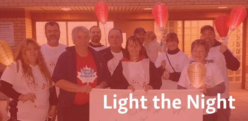 Local 1006A activists participate in Light the Night fundraiser for the Leukemia and Lymphoma Society of Canada