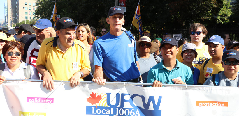 Local 1006A members proudly march in the Toronto Labour Day Parade.