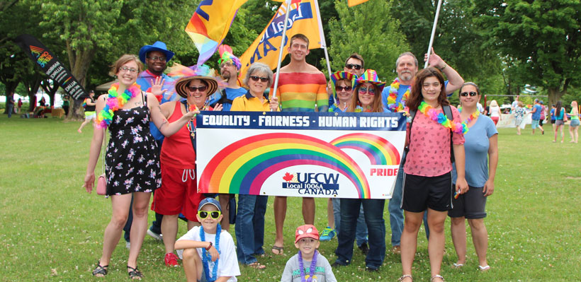 Union UFCW Local 1006A at Brockville Pride Parade
