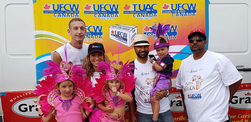 UFCW Canada Local 1006A joined more than 2000 junior masqueraders for Caribana Junior Carnival and Family Day.