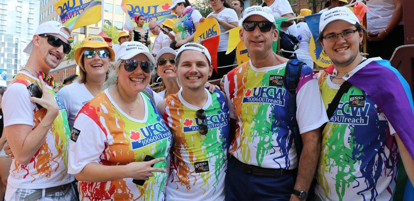 UFCW celebrates Canada Pride in Montreal.