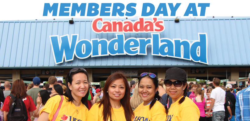Members are invited to Join Ontario's Best Union at Canada's Wonderland for a day of fun.