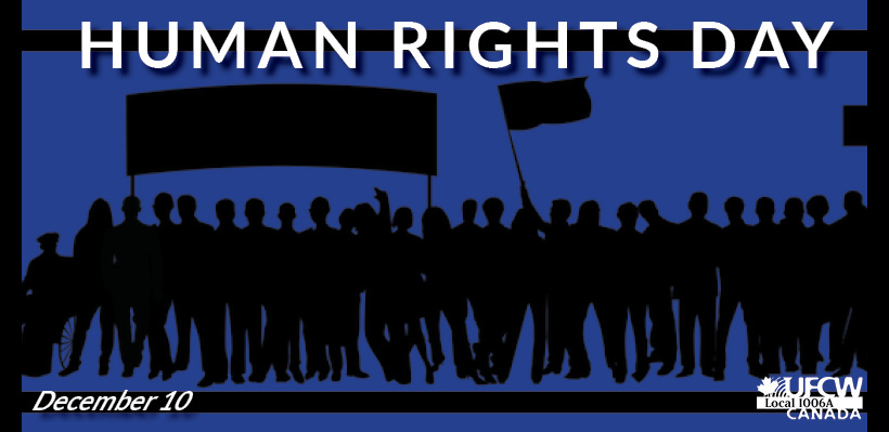 Join Your Union in Marking Human Rights Day on December 10