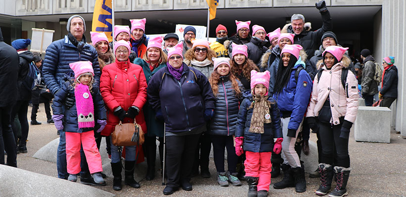 1006A Joins Thousands at International Women's Day