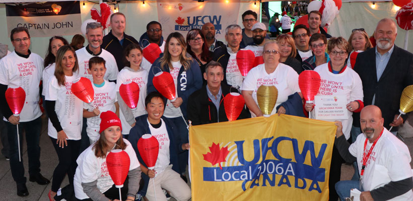 Local 1006A participates in Light the Night in Toronto.