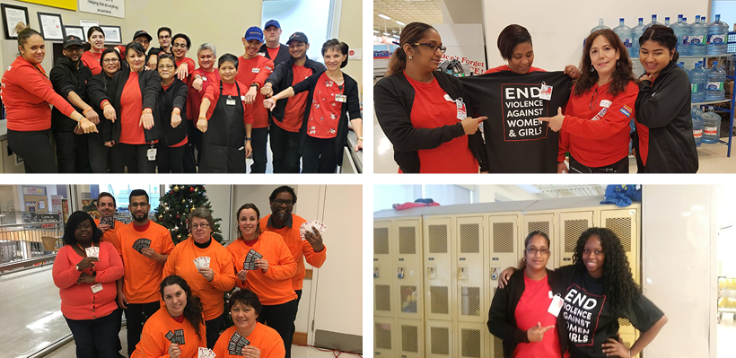 UFCW 1006A Members Take Action to Eliminate Violence Against Women