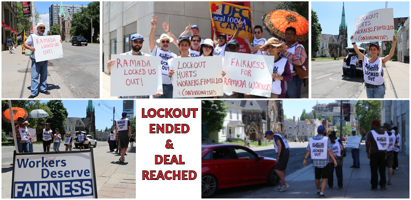 UFCW 1006A members were locked out at the Ramada Hotel and Suites in Toronto.