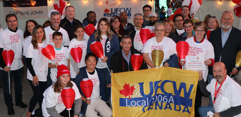 UFCW 1006A participants at the 2017 Light the Night event in Toronto