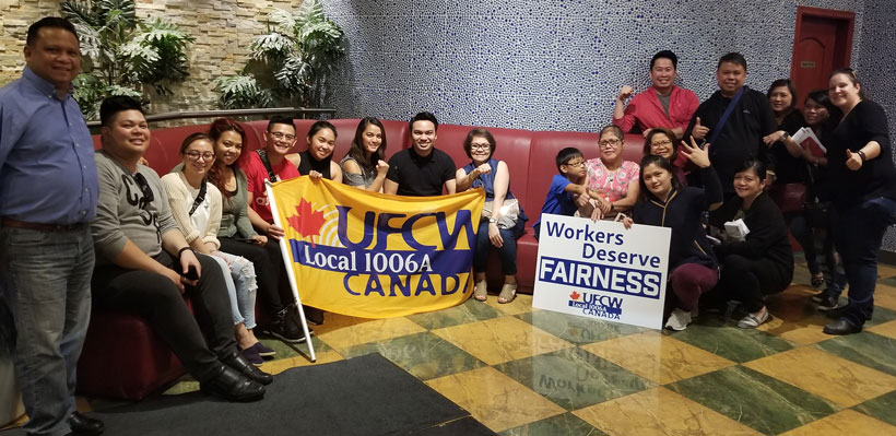 Plaza Premium Lounge workers at Pearson Airport join Ontario's Best Union!