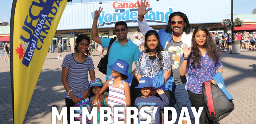 Members are invited to bring their friends and family to our annual member's day at Canada's Wonderland