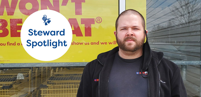 Steward Spotlight, featuring Kyle a union steward from No Frills in Shelburne.