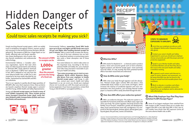 Click here to read our 2019 article on Toxic BPA receipts.